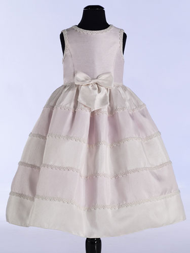 Striped skirt flower girl dress