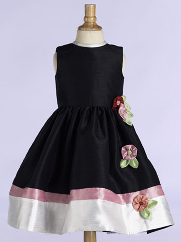 3d2456f9d3dc Scattered flowers accent the gathered tea length skirt. Suggested retail  $309.99. Girls Size: 2 thru 16. Embellishment: flowers