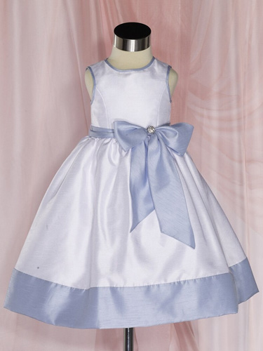 Lavender and white flower girl dress