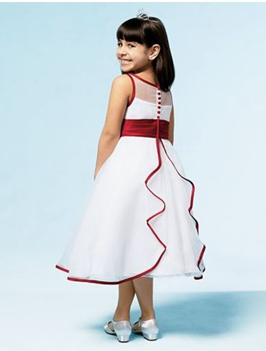 red and white holiday dresses for girls