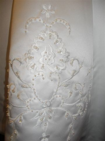 Front of Flower girl dress embroidered