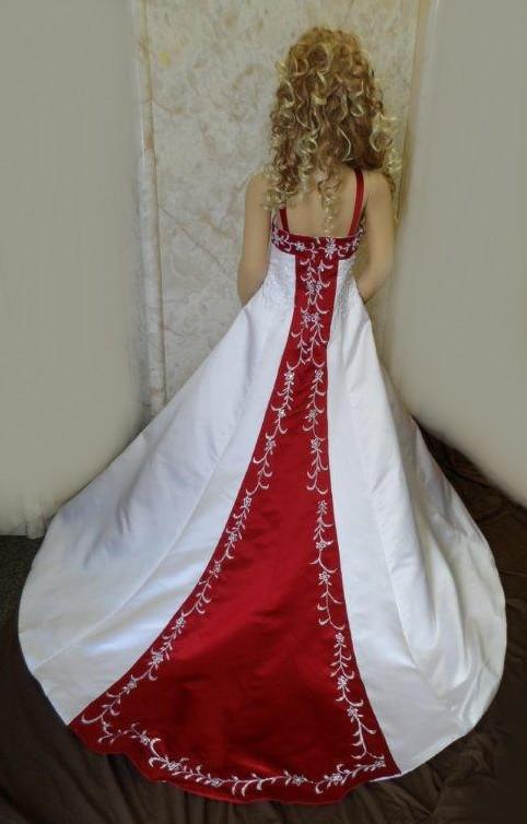 Red flower girl dresses white raspberry wedding dress white and apple red miniature wedding dress train mightylinksfo