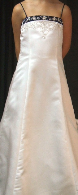 flower girl dress front - bridal wedding boutiques