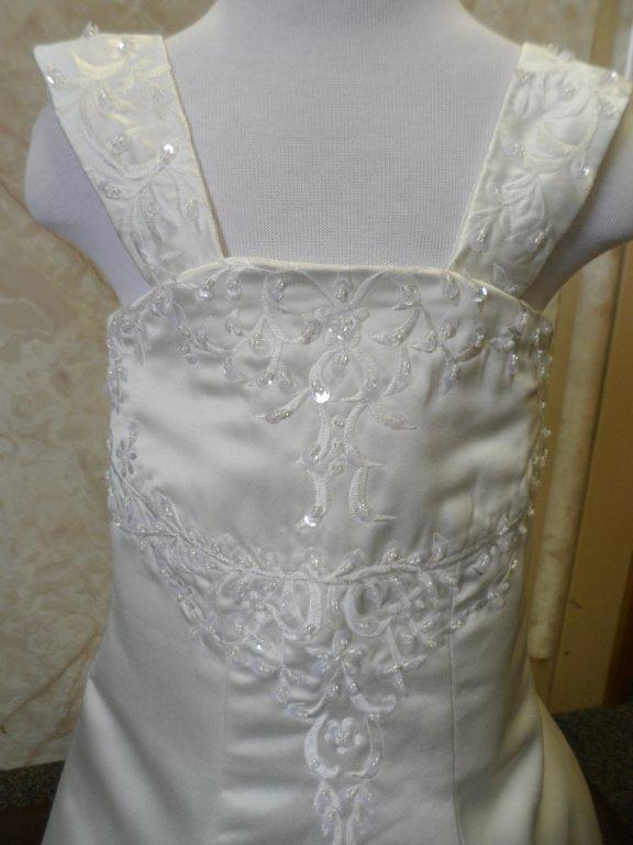 ivory embroidered miniature brides gown