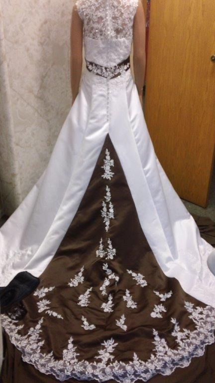Chocolate wedding dresses weddings dresses for Brown dresses for a wedding