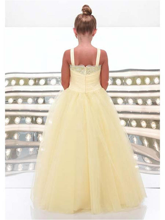 Organza ball gown pageant dress