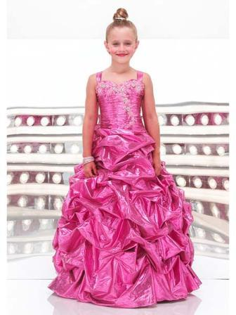 Pink Pageant Ball Pick-up Gown