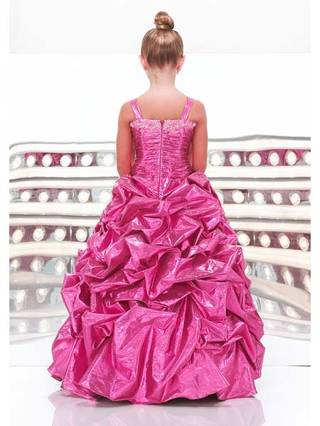 Pink pickup beauty pageant dresses preteens