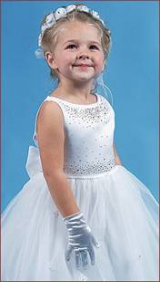 white little girls pageant dress