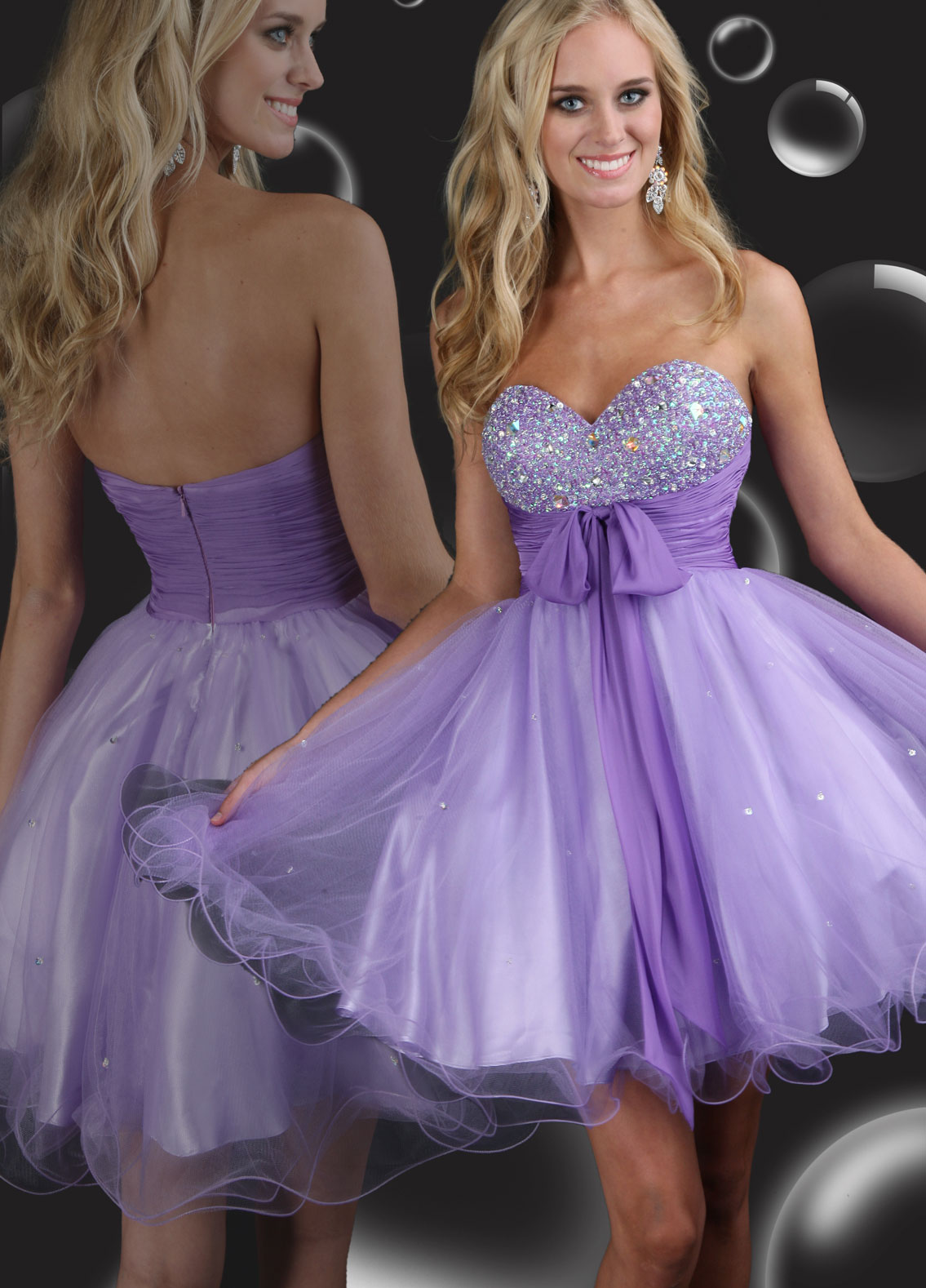 Light Lavender Prom Dress