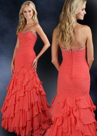 ruffle prom dress