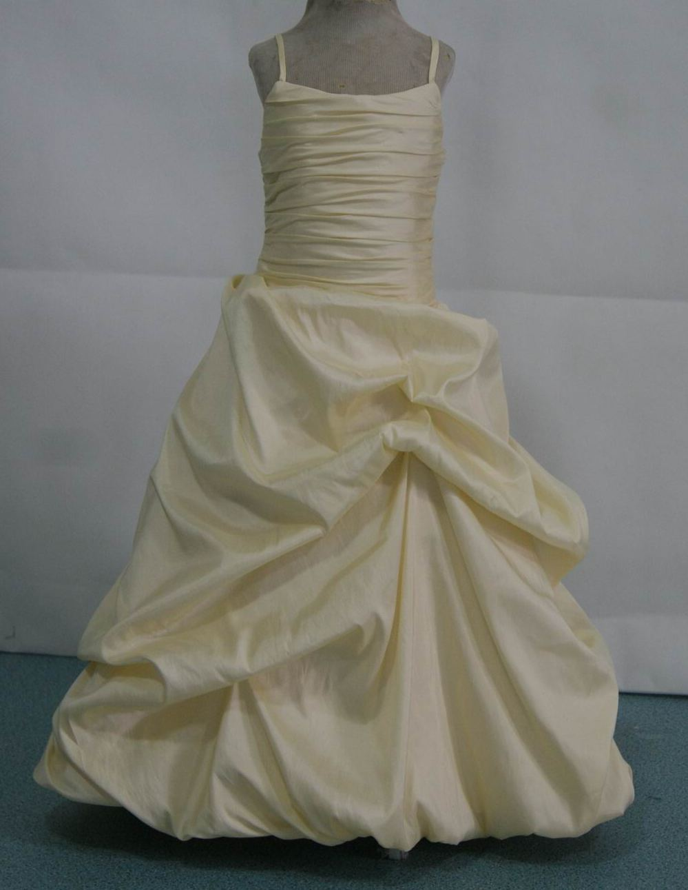 yellow pickup flower girl dress