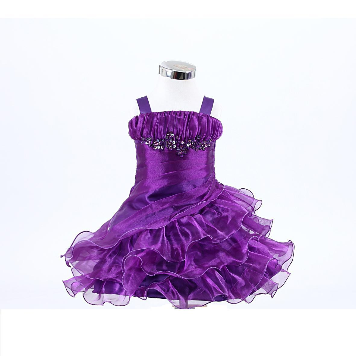 purple infant ruffle layers dress