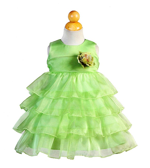 lime infant easter dress