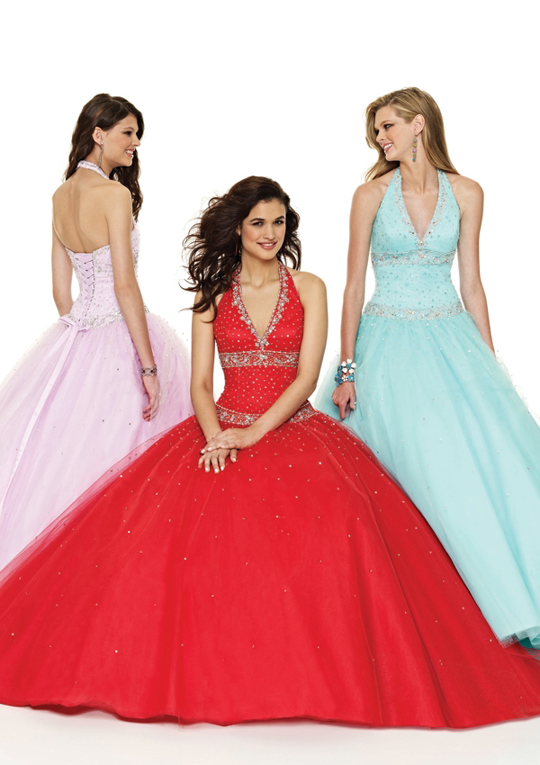 Women's halter pageant dresses