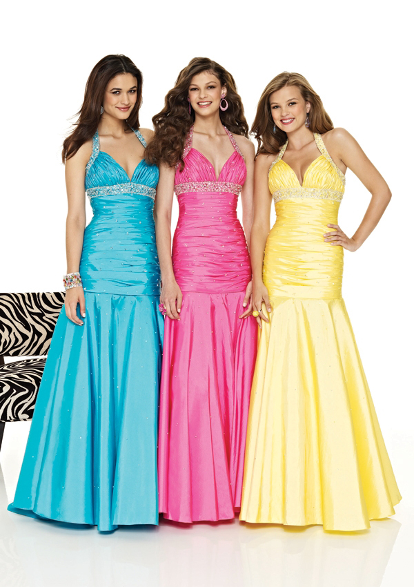 halter mermaid gown