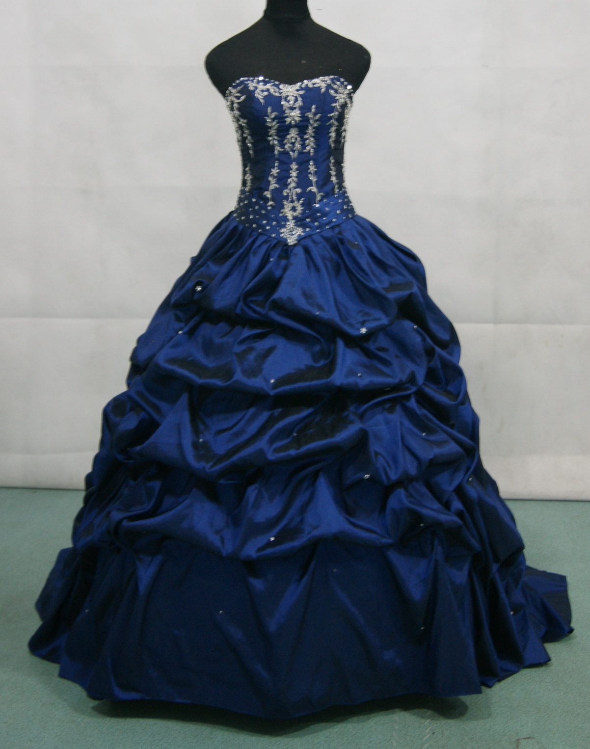 Black Raspberry prom dress with silver beading