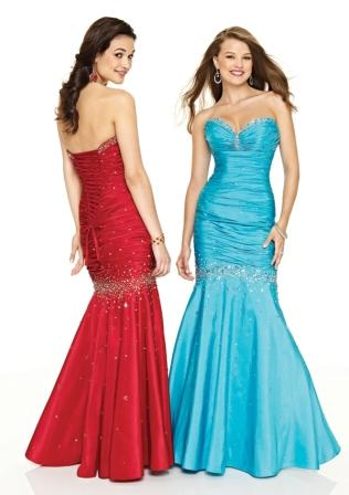 Mermaid sweetheart gown