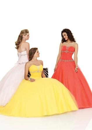 sunshine yellow ball gown