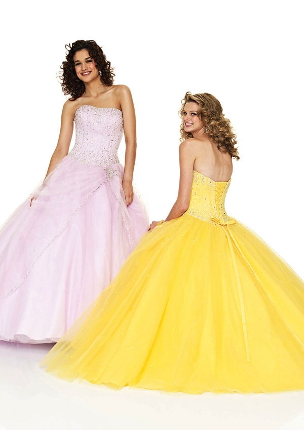 yellow prom ball gown
