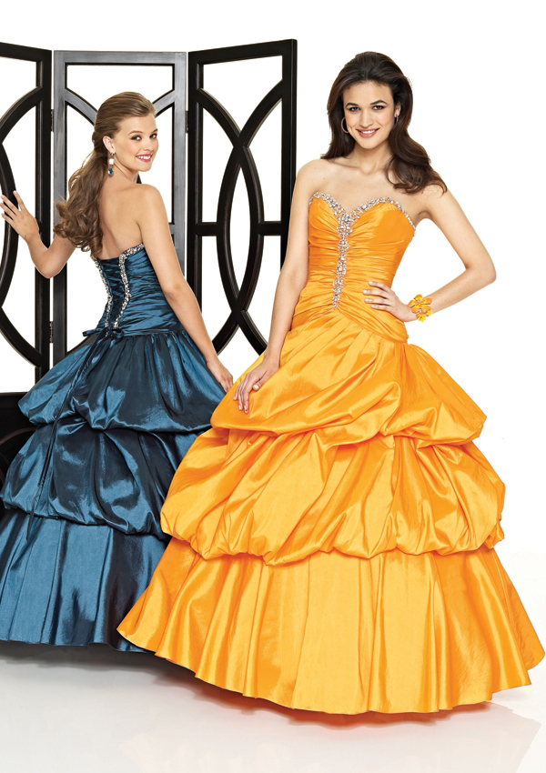 Layered Sweetheart Ball Gown