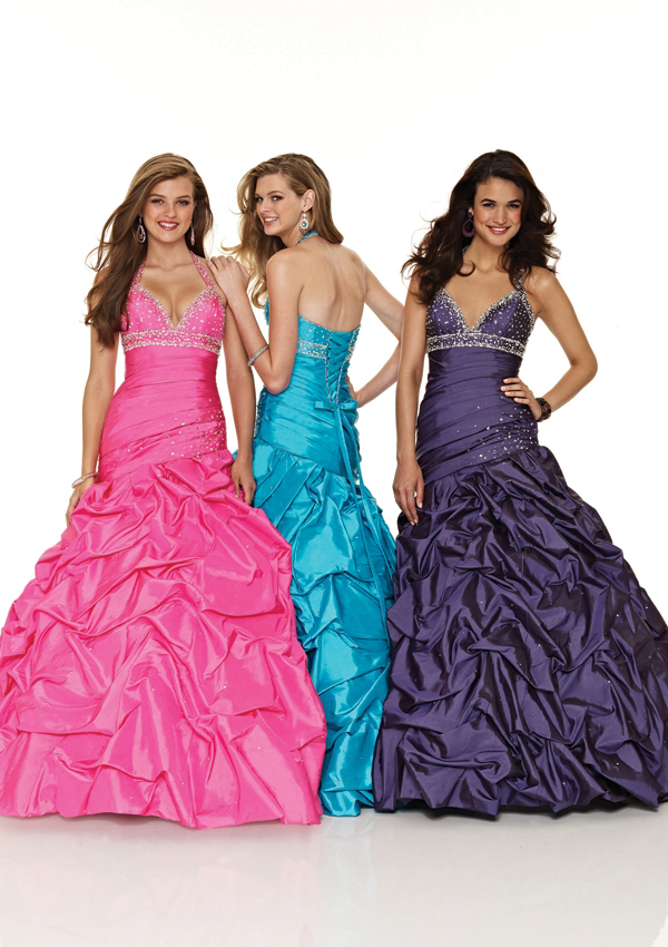 Raspberry, Capri, Purple Long Gown