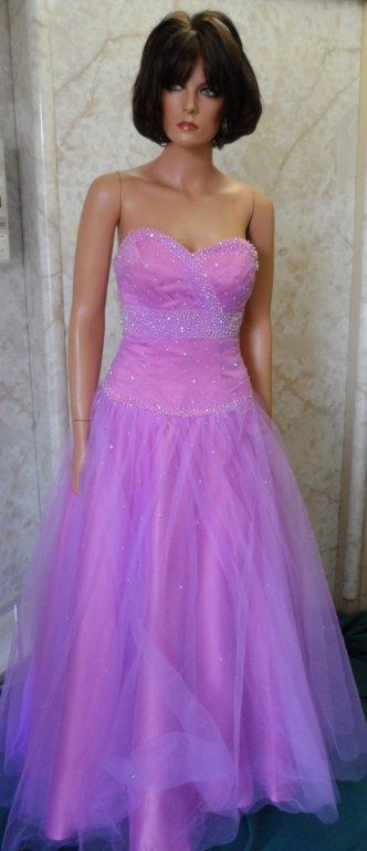 pink lavender clearance prom dress