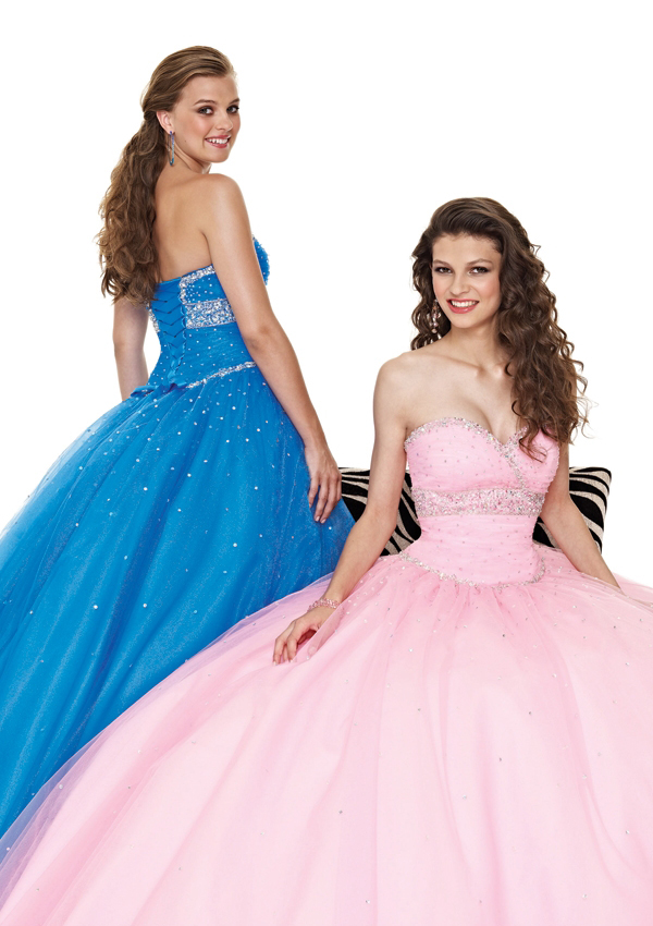 blue Sweetheart formal ball gown
