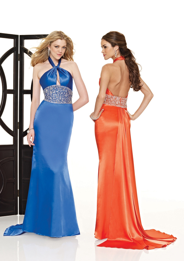 form fitting prom dress