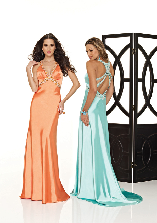 Women's Halter gown with cut out back