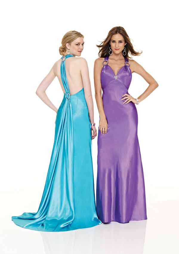 Turquoise Purple sheath gown