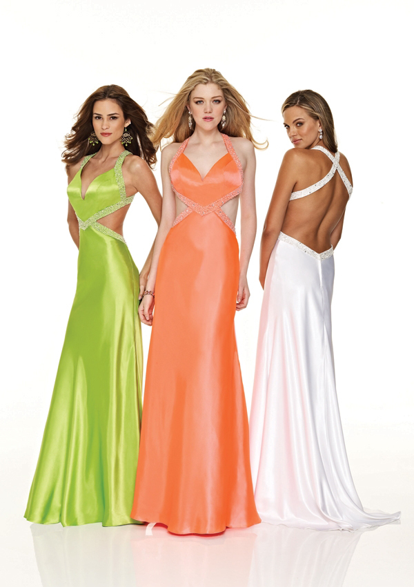 Most Revealing Prom Dresses Low cut prom dress