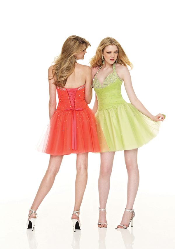 Short halter prom dress