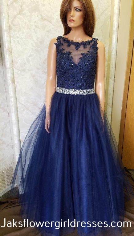 Sheer-Back Long Formal Prom Dress with Beaded Bodice