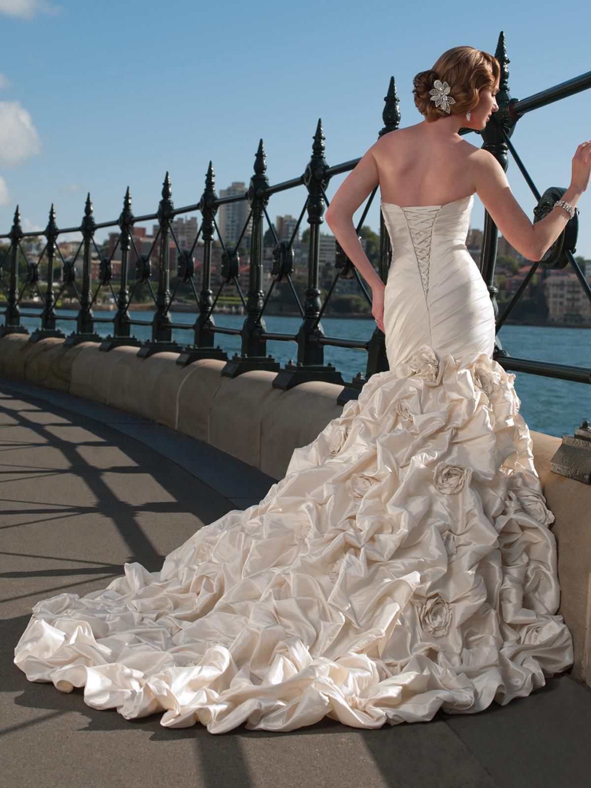 up Mermaid Wedding Dress