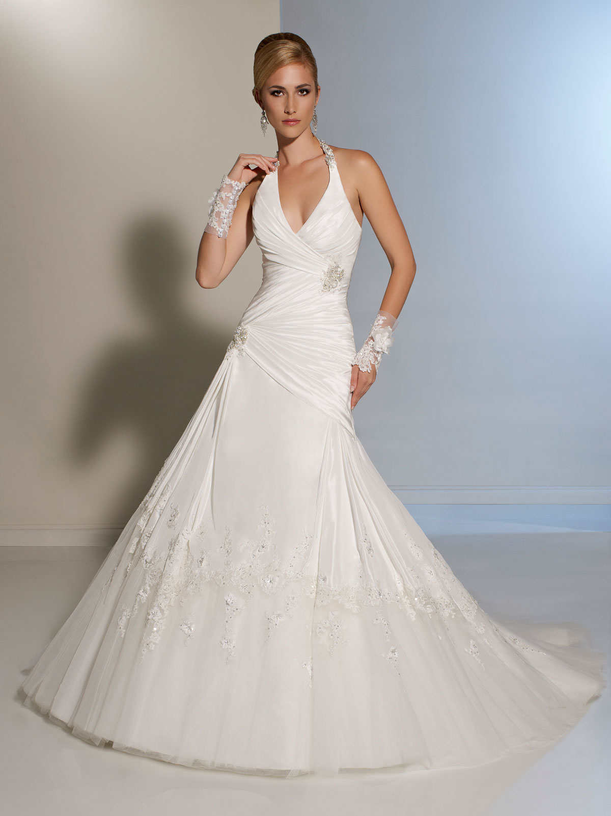 Halter Top Wedding Gown