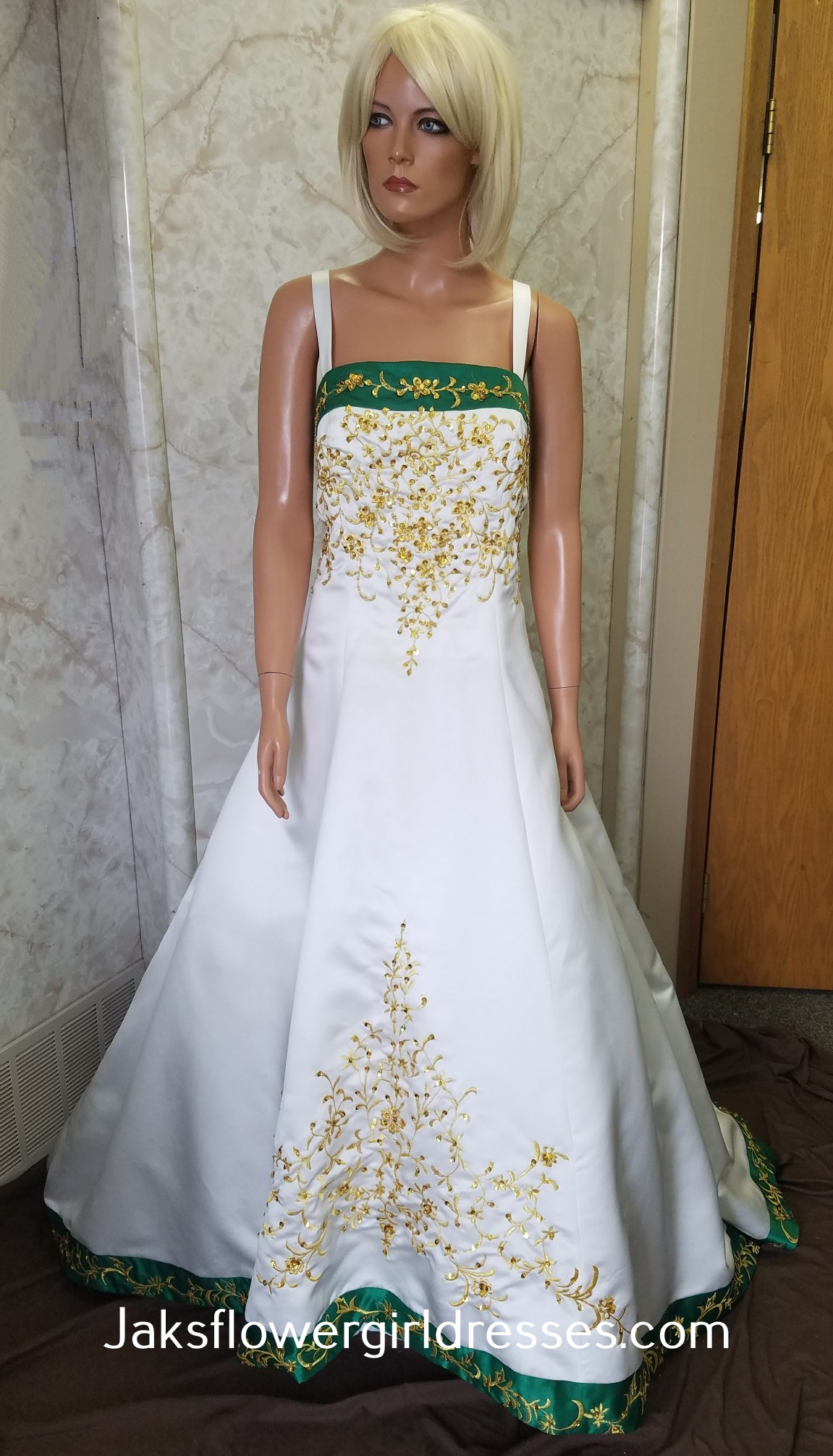 Ivory And Green Wedding Dress Sale