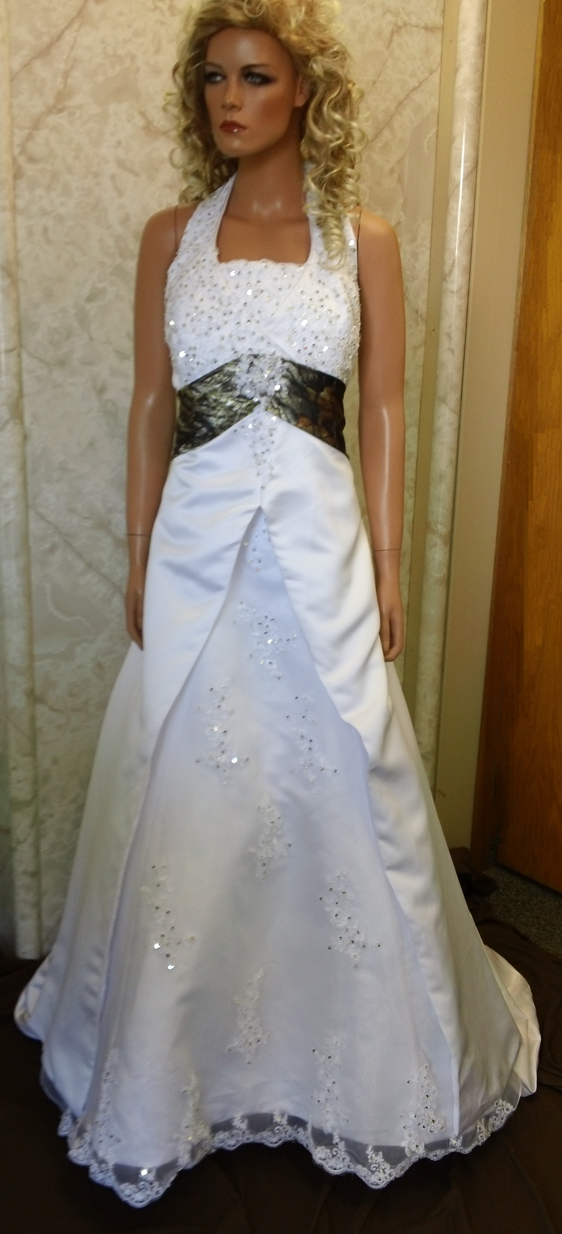 Empire waist halter wedding dresses.