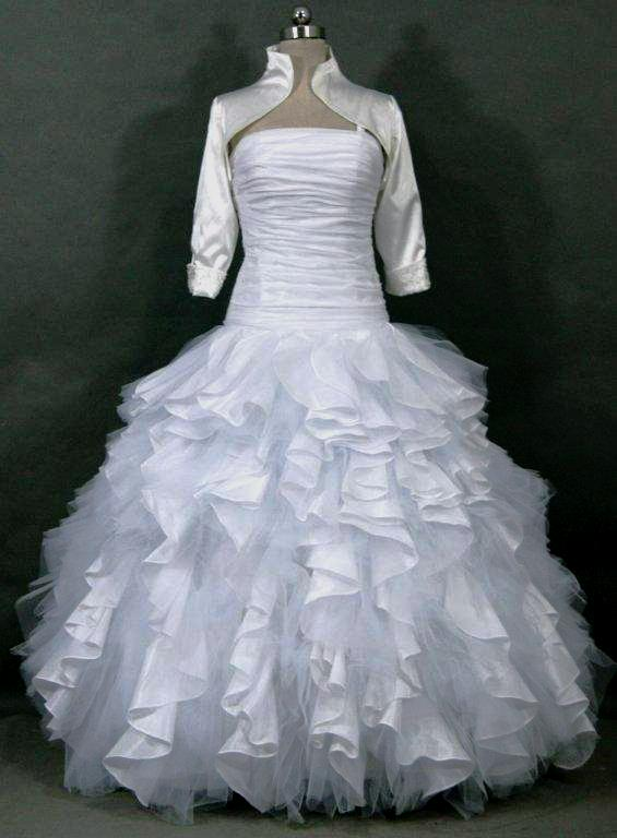Organza gown - layered Wedding Gown