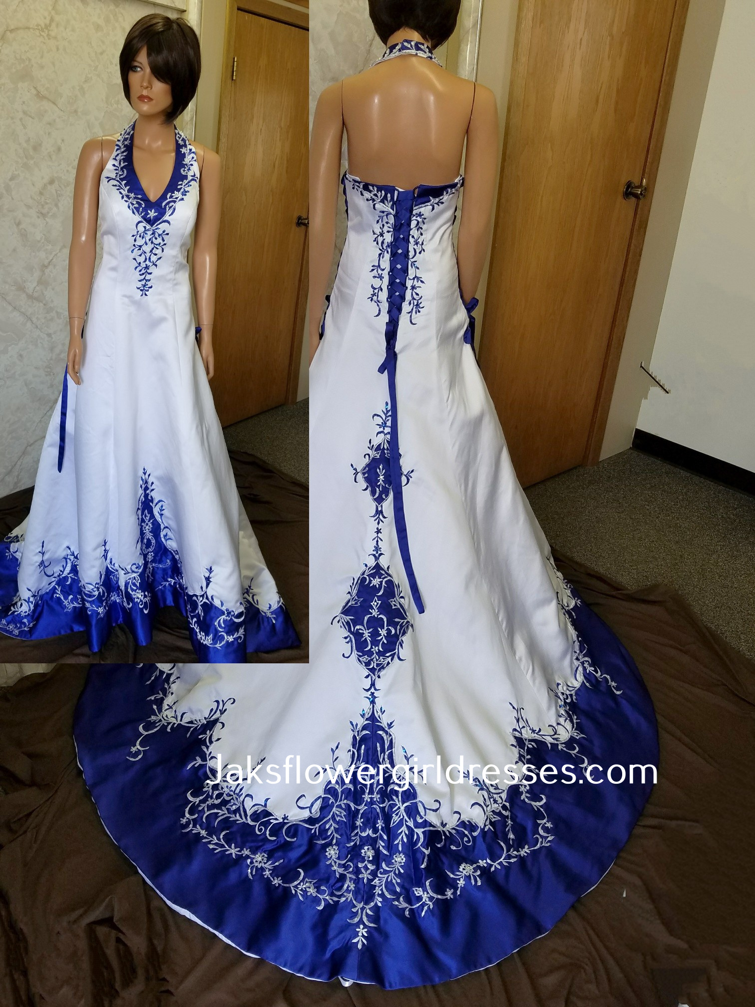 Looking for a bridal gown in a non-traditional color or with a touch of color?  White wedding dresses with color accents and color accents bridal gowns.