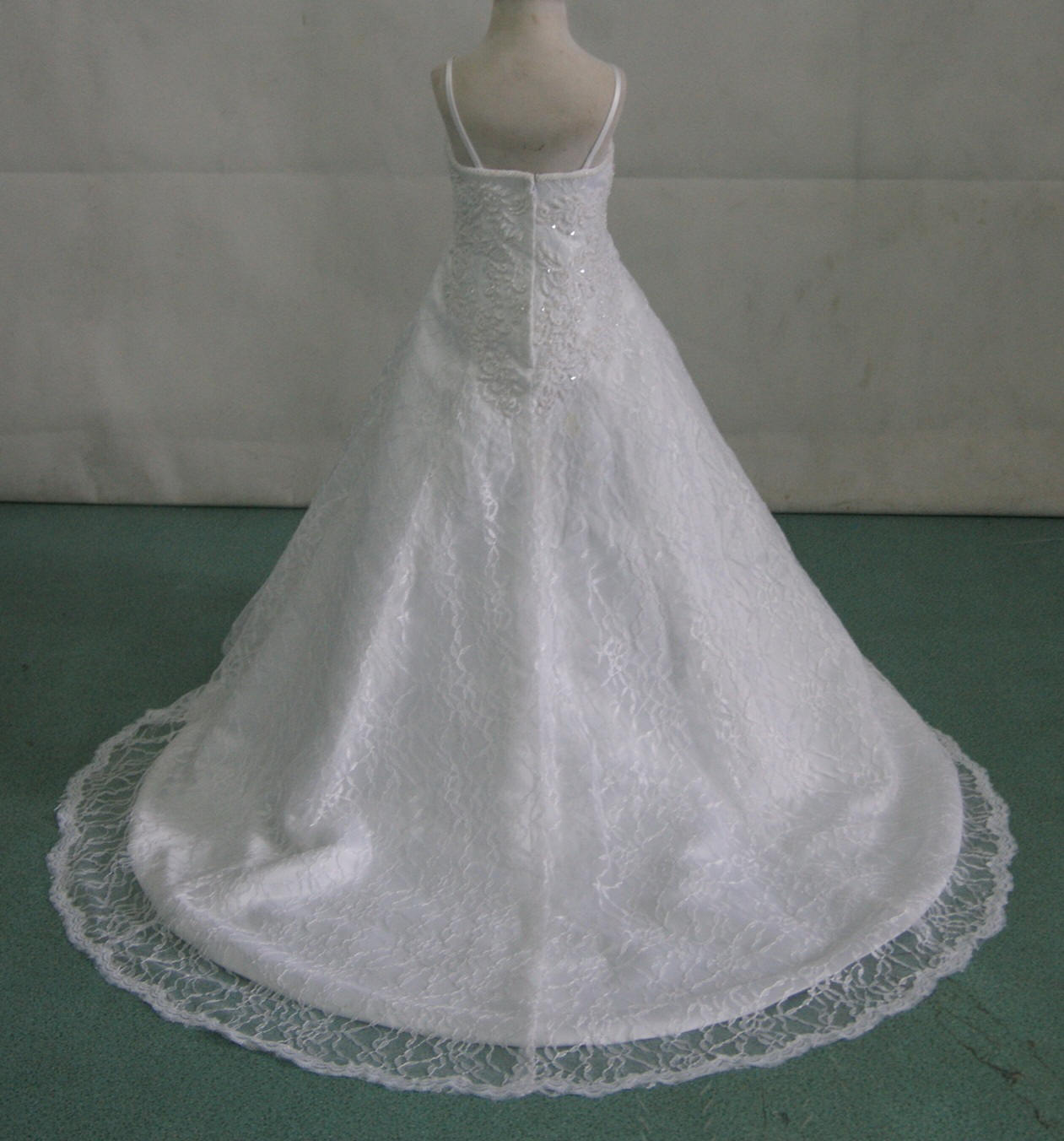 Fully beaded lace miniature bridal gown for Fully beaded wedding dresses