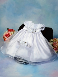 white baby girls dress