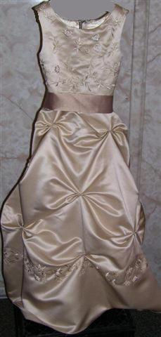 champagne junior bridesmaid dresses