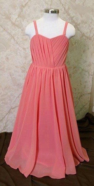 chiffon junior bridesmaid dresses