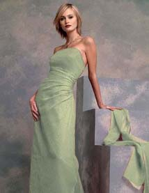 pistachio green long dress