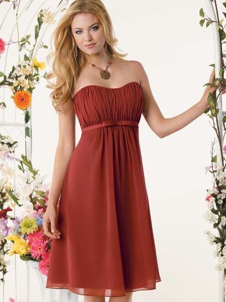 chiffon dresses bridesmaid