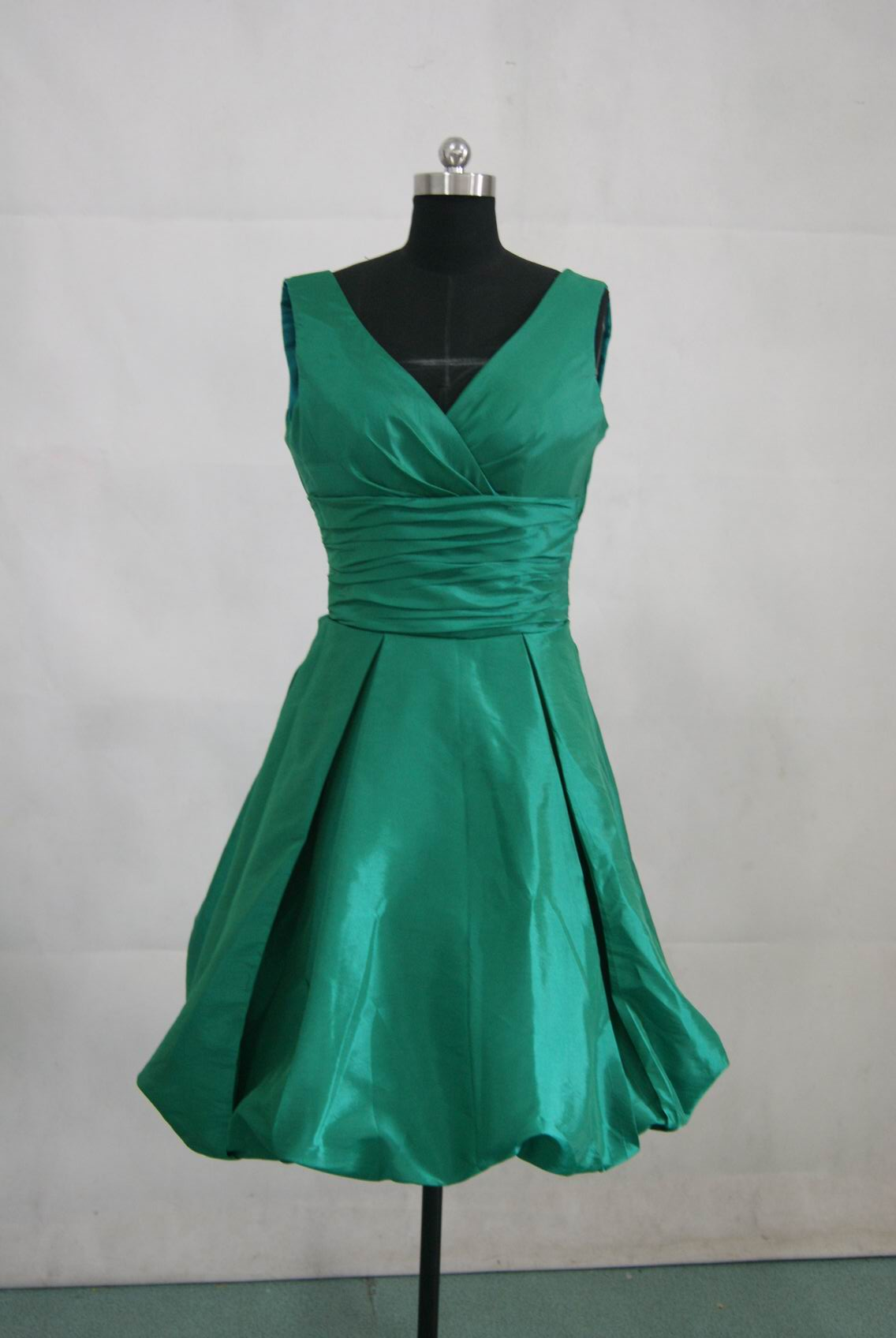 Slytherin bridesmaid dress my harry potter wedding for Short green wedding dresses