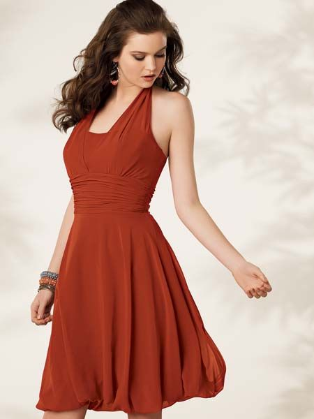 Halter dress with bubble hem