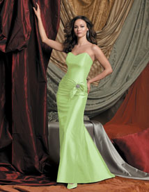 apple green bridesmaid dress