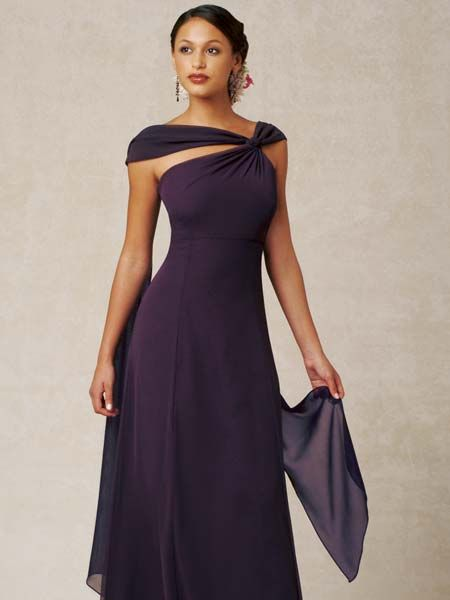 Plum Asymmetrical dress